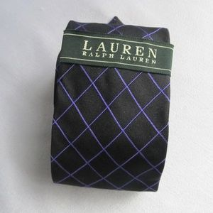 Lauren Ralph Lauren NWT Black/purple Check Tie